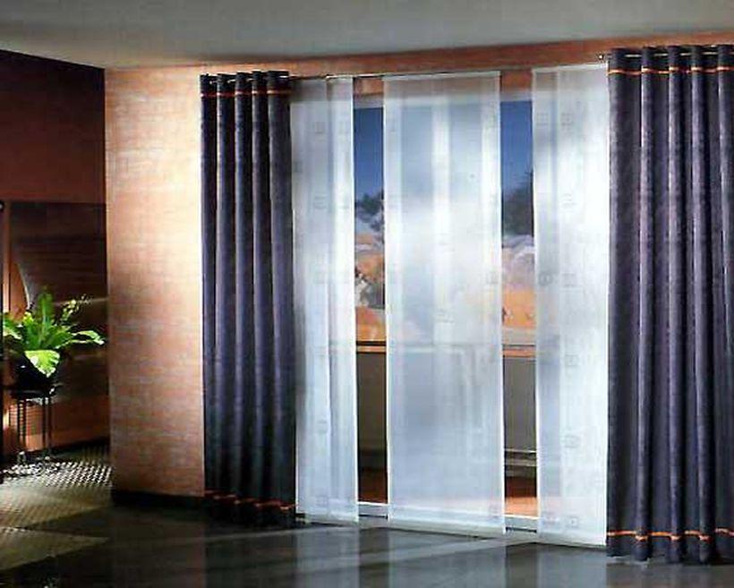 Японские шторы для зала фото