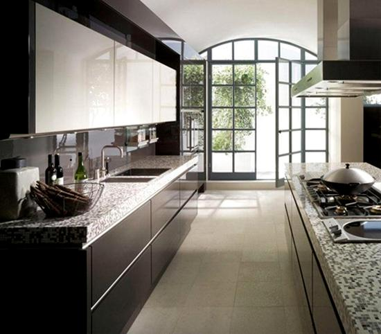 планировка кухни в два ряда
