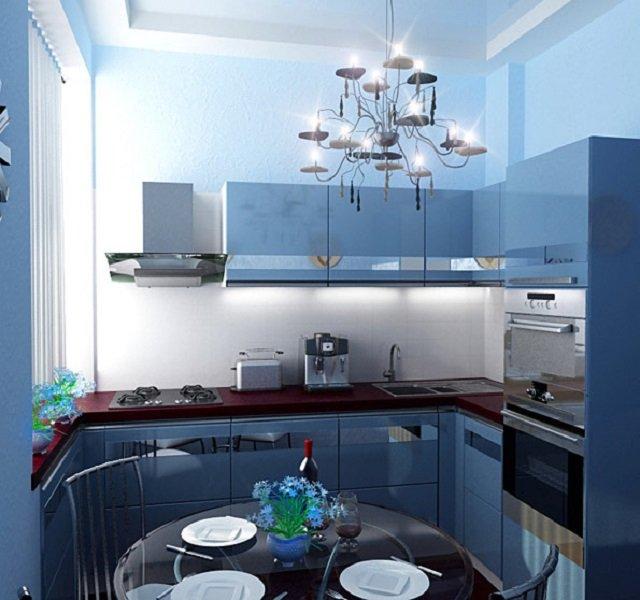 цветовые качества интерьера кухни 9м2