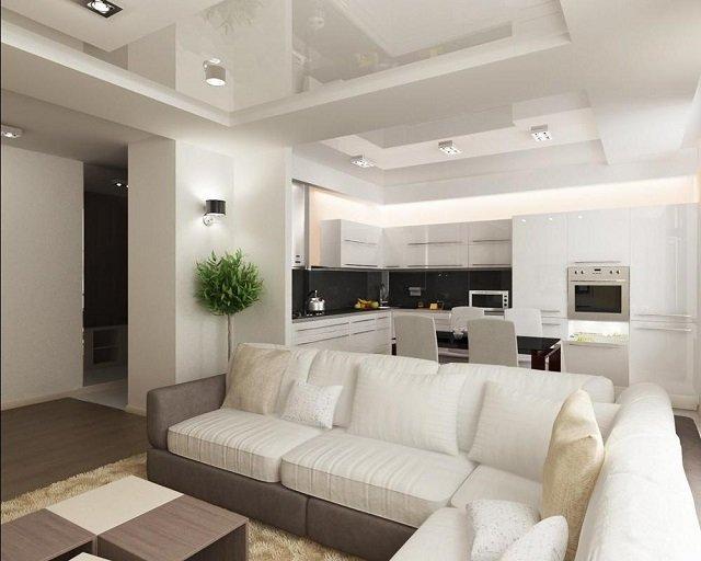 дизайн гостиной совмещенной с кухней советы профессионалов