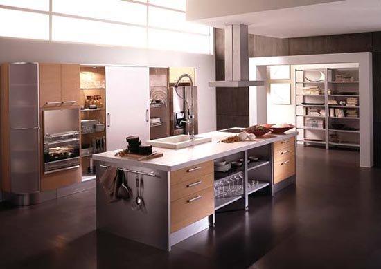 дизайн кухни светлого цвета фото