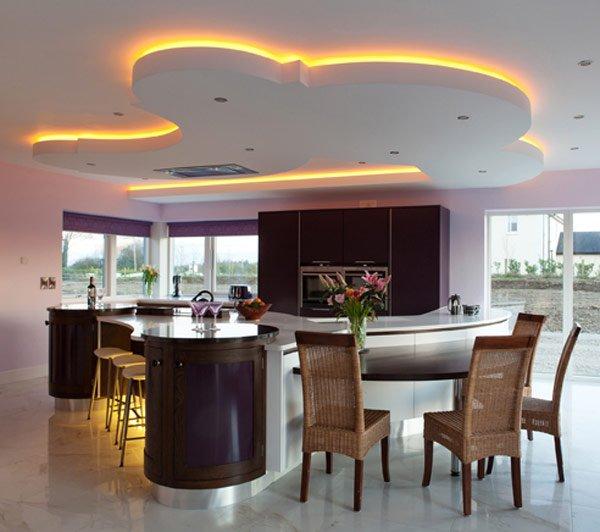 дизайн кухни темного цвета