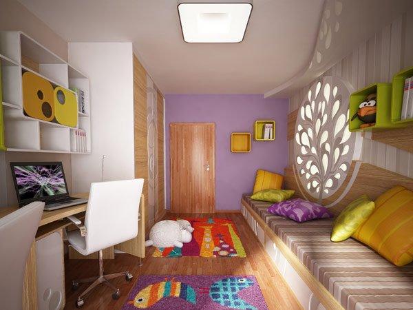 дизайн потолков для детской комнаты