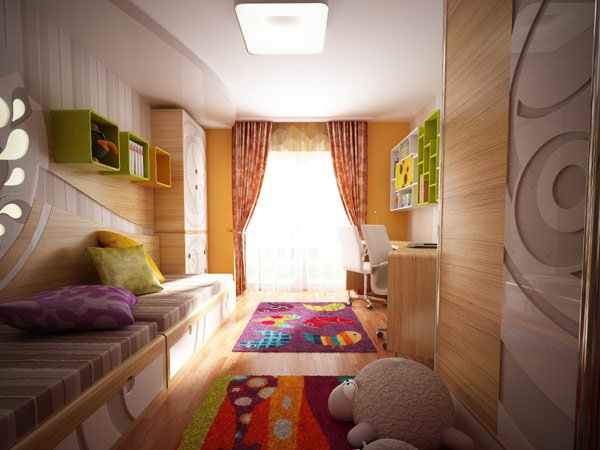 дизайн штор для детской комнаты фото