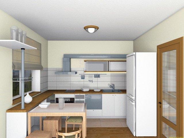 как оформить интерьер кухни 9м2