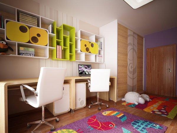 необычный дизайн для детской комнаты