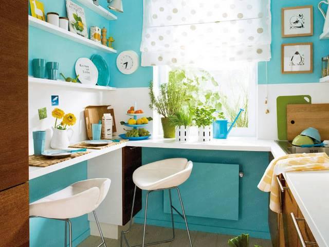 неповторимый дизайн малогабаритных кухонь