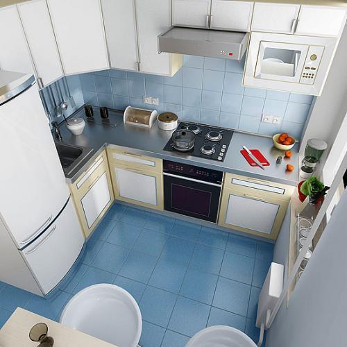 планировка кухни буквой п