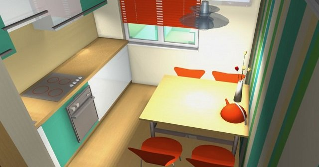 вариант дизайна кухни 9м2