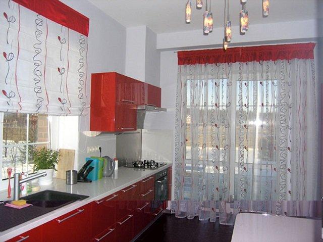 дизайн штор на кухню или какими бывают шторы