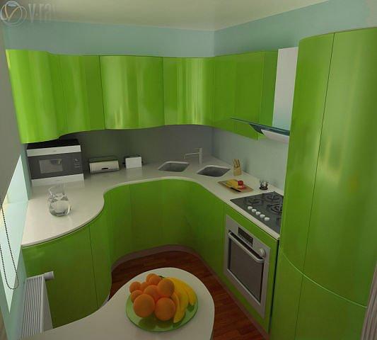 Стильный дизайн кухни в хрущёвке