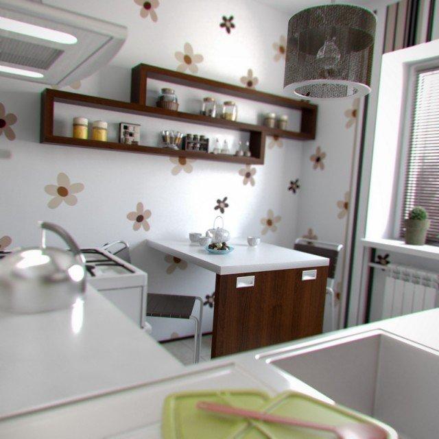 Красивый дизайн кухни в хрущевке: Удобный дизайн кухни в хрущёвке: нет ничего невозможного