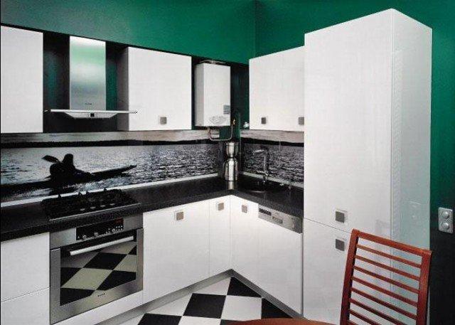газовая колонка на кухне дизайн