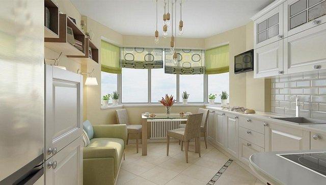 кухня п44т в двухкомнатной квартире