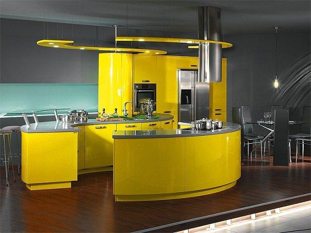 дизайн кухни стиле хай-тек