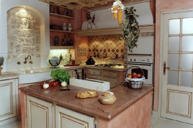 кухня в стиле кантри и прованс