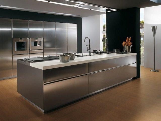 минимализм в интерьере кухни серого цвета