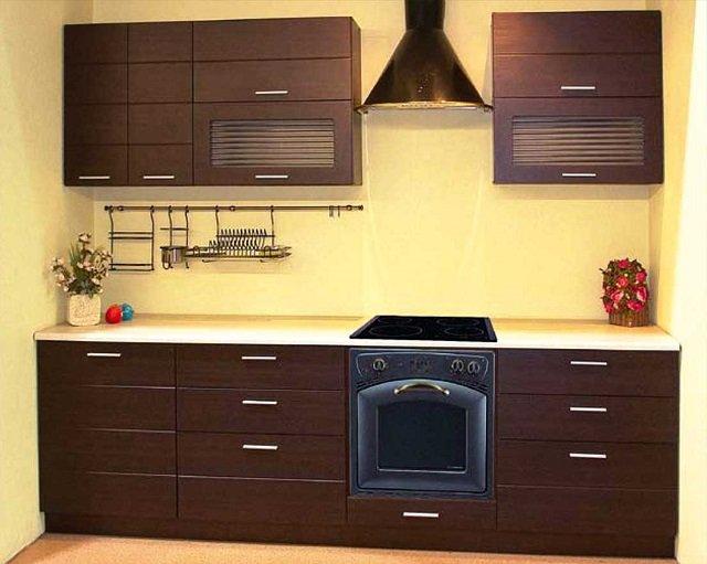 неповторимый цвет венге в дизайне кухни