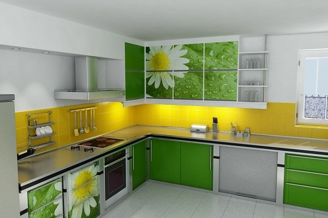 Практичность и удобство угловой кухни