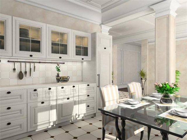 романтическая кухня в белом цвете