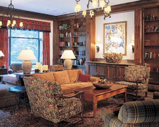 английский стиль в гостиной