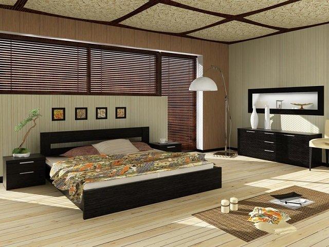 богатый дизайн большой спальни