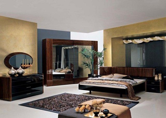 большие спальни в интерьере