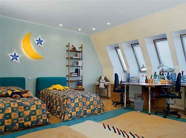 детские комнаты для двух детей