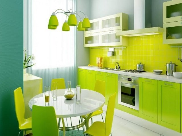 дизайн интерьера для квадратной кухни