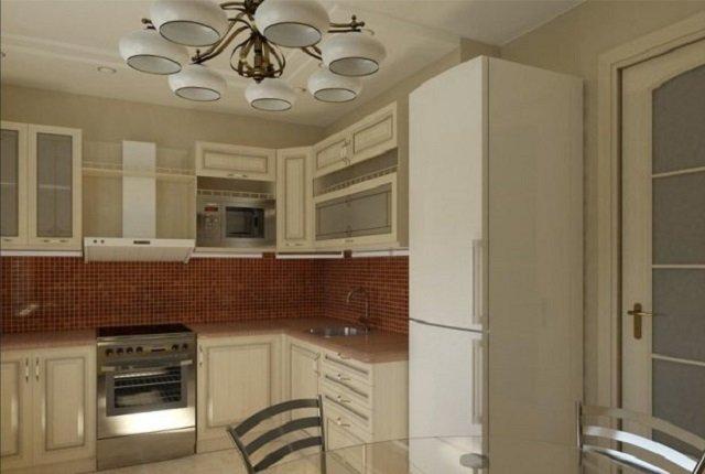 дизайн 5 метровой кухни