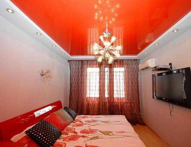 дизайн потолков для спальни