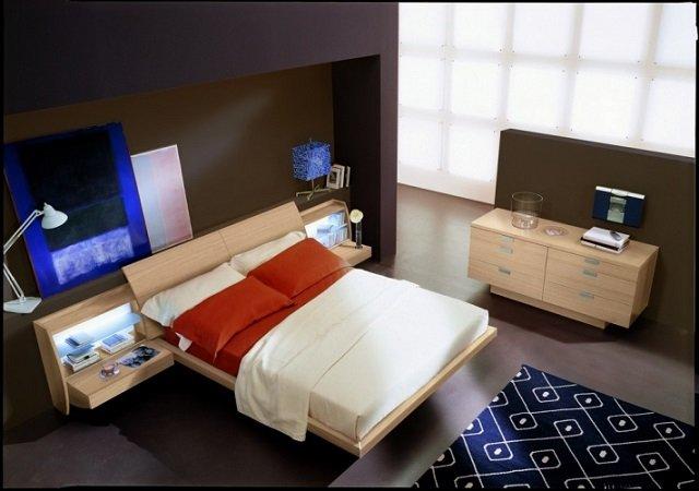 дизайн спальни хай тек - современное решение