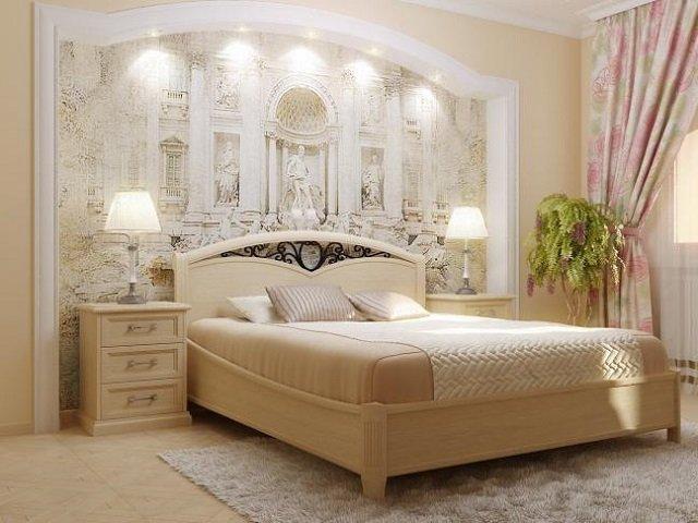 фрески в интерьере спальни - элемент в оформлении