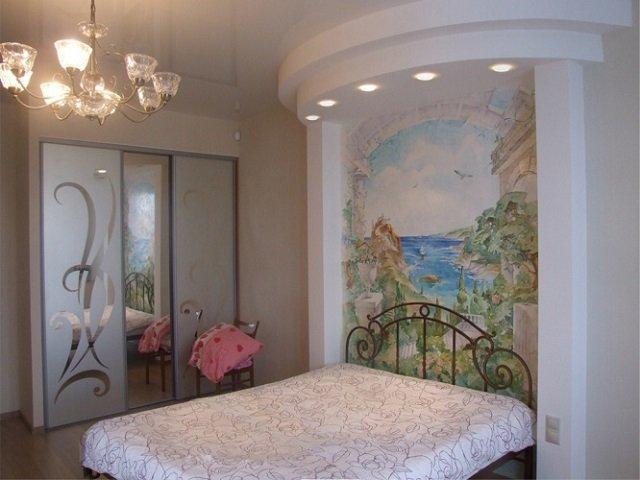 фрески в спальни