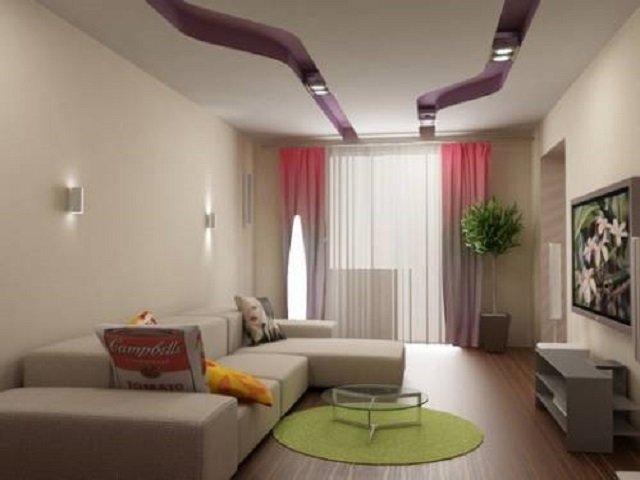 гостиная комната в хрущевке вариант дизайна