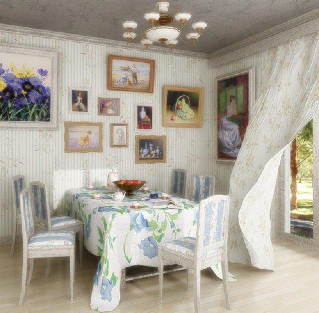гостиная в стиле прованс