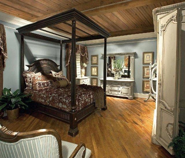 интерьер спальни в мужском стиле