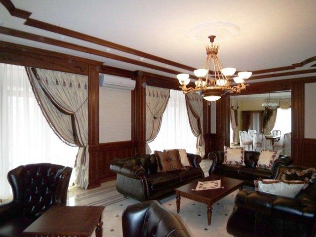 изисканный английский стиль в гостиной