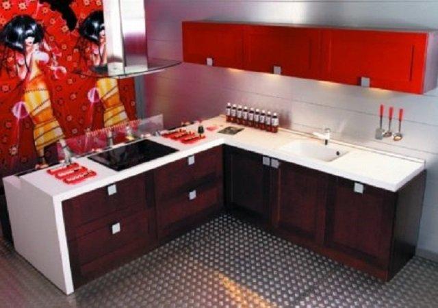 изысканный интерьер кухни в восточном стиле