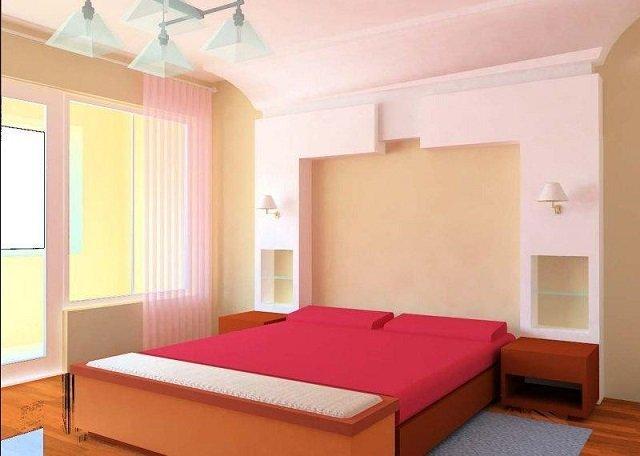 комфортный дизайн маленькой спальной комнаты