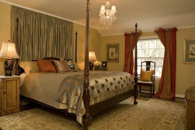 ковры как интерьер спальни