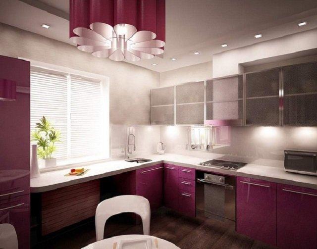 красивые люстры в интерере кухни