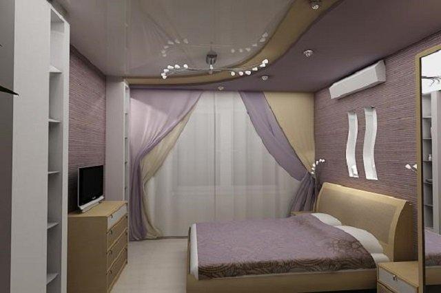Дизайн потолка из гипсокартона фото маленьких комнат