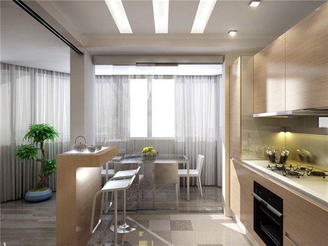 красивый дизайн 7 метровой кухни