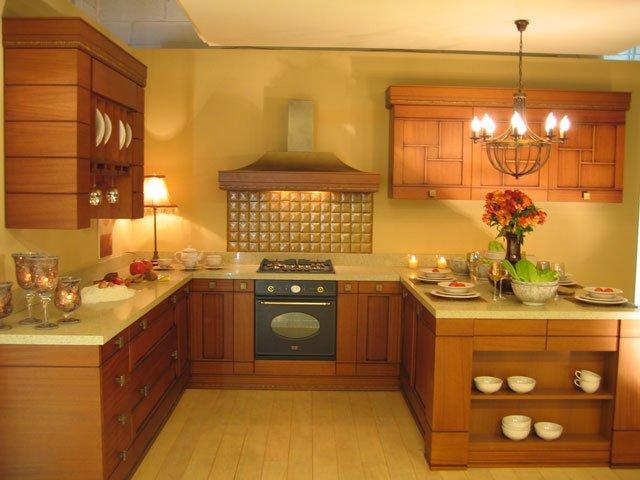 красивый интерьер кухни в восточном стиле
