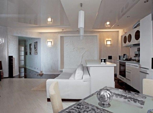 лучший дизайн гостиной хай-тек
