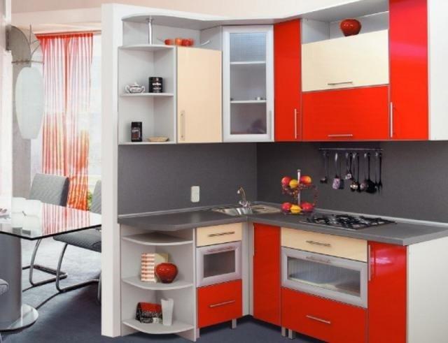 маленькая кухня - вид углом