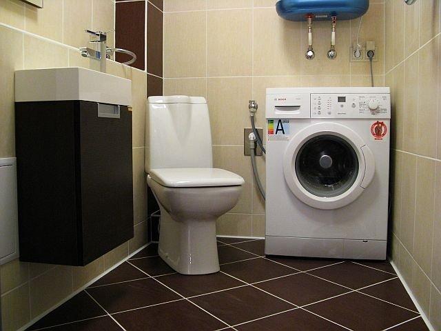 маленький туалет в хрущевке