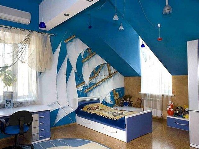 морской стиль в детской комнате