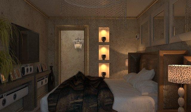 неплохой вариант спальной комнаты в хрущевке